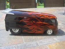 Hot Wheels Custom VW Drag Bus 1:18 Scale Flames Bus 1 of 1
