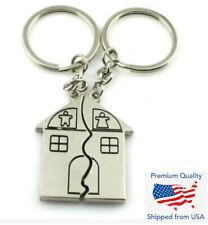 1 Pair House Warming Romantic Love Key Chain Charm Pendant - 2 Keychain Set Gift