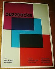 BUZZCOCKS ROCK CONCERT POSTER SWISS PUNK GRAPHIC ART GEARY TEMPLE SAN FRANCISCO