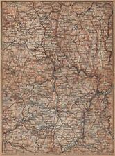 Le grand-duché de luxembourg luxembourg topo-map carte. baedeker 1901 old