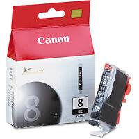Genuine Canon CLI-8 BK Black Ink Cartridge Pixma iP4200 iP4300 iP4500 iP5100