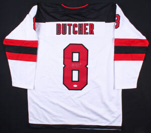 Will Butcher Signed Devils Jersey (JSA COA) New Jersey 3rd year Defenseman