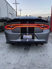 BLACKED OUT 2 Piece SRT SCATPACK DODGE CHARGER Hellcat Wicker Bill Spoiler 15-20