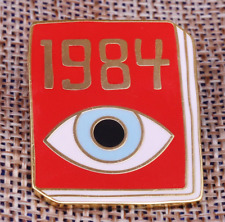1984 george orwell enamel pin lover fun book bookwish bookish bookworm symbol