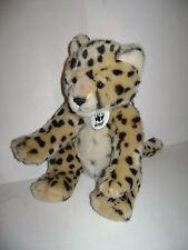 "BUILD A BEAR WORKSHOP WWF 2007 LEOPARD CHEETAH JUNGLE CAT 13"" PLUSH STUFFED RARE"