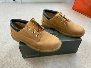 WOMENS TIMBERLAND TAN LEATHER BOOTS UK 5.5 LACE UP SHOES TRAINERS