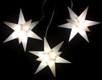 3er LED Außen-Stern-Set weiß Außenstern Adventsstern Weihnachtsstern Outdoor