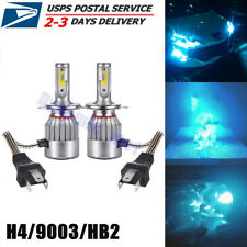H4 9003 Led High Low Beam Headlight Bulbs Conversion Kit Bright 55W 8000K Blue