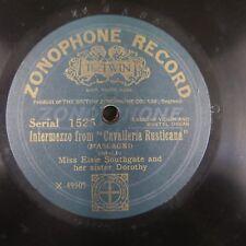 78 RPM Elsie & Dorothy SOUTHGATE CAVALLERIA Rusticana/Gounod AVE MARIA