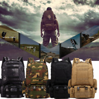 4Color 55L Outdoor Military Tactical Backpack Rucksack Camping Bag Travel Hiking