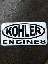 "3.5""X 6.75  Kohler Engines (Black and White Vinyl) NEW (Copy of old Sticker)"