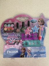 Disney Frozen Princess Makeup Girls Set Kids Beauty Nail Polish Eyes Gift Set