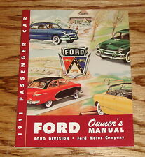 1951 Ford Passenger Car Deluxe Owners Operators Manual 51