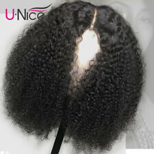 """Pre Plucked Kinky Curly Lace Front Wig 100% Virgin Peruvian Human Hair Wigs 16"""""""