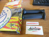"NOS NEW Tommaselli Domino Grips 22 24 7/8"" Bars Black Trials 1052.82.40.06 Italy"