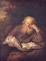 Oil painting Salomon Koninck elder portrait St.Jerome reading Hand painted ART