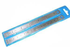 """Set of 2 6"""" S. S. Machinist Pocket Rulers SAE/mm"""