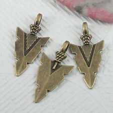 14pcs antiqued bronze color arrow of head charms EF0615
