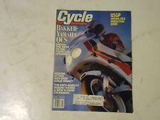 JULY 1990 CYCLE MAGAZINE,BAKKER YAMAHA QCS,HONDA ST1100,SUZUKI VX800,LAGUNA SECA