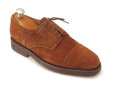 New Silvano Lattanzi Handmade Rust Suede Perf. Cap-toe Oxfords 7.5 UK / 8.5 US $
