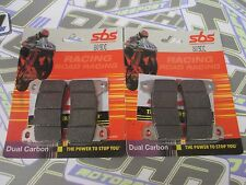 SBS Dual Carbon Racing Track Front Brake Pads for Honda CBR600RR 2005-2017 NEW