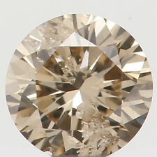 Natural Loose Diamond Round SI2 Clarity Brown Color 3.30X2.00 MM 0.13 Ct L4498