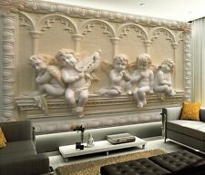 3D Wallpaper Bedroom Mural Roll Modern European Child Statue Wall Background TV