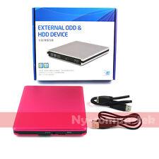 USB3.0 SATA External Case Caddy Enclosure for Laptop 12.7mm CD/DVD Burner Drive