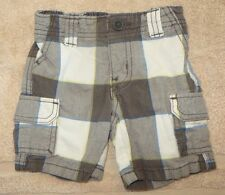 EUC Baby Gap Plaid Cargo Shorts Size 6-12 6 12 Months