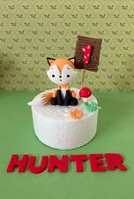 Edible Fox Cake Topper,Name,Number For Woodland Theme Fox Theme Birthday Cake