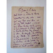 """PRIÈRE MANUSCRITE : """"ST JEAN de la CROIX"""""""