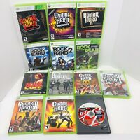 Guitar Hero 5 Warriors Of Rock Smash Hits Rock Band 1 2 ACDC Xbox 360 LOT X13