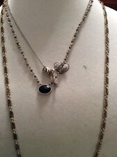 Lucky Brand Two Tone Multi-layer Hearts & Key Necklace #279 (2)