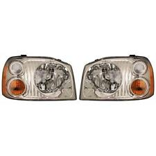 For Nissan Frontier Xe 01-04 Pair Set Left & Right Headlights Headlamps