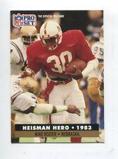 1991 Pro Set #43 Mike Rozier Heisman Hero / Nebraska Cornhuskers