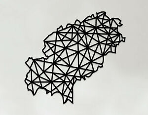 Ibiza Art - Wooden Laser Cut Wall Art - Geometric Country Art