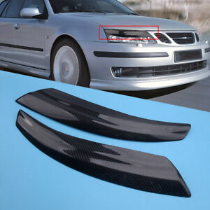 Fit for Saab 9-3 2002-2006 Front Headlight Lamp Cover Trim Eyelid Garnish