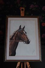 J Rivet (1920/ 30's) original horse head lithograph, signed in pencil by artist