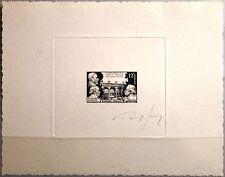 FRANCE FRANKREICH 1951 915 655 Artist sig. DELUXE PROOF Tierärzte Veterinary Med