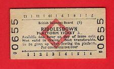 Edmondson Railway Ticket ~ BRB(S) Platform - Riddlesdown - Red Diamond - 1983