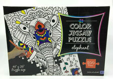 "Elephant Color Jigsaw Puzzle 19"" x 26"" 500 Piece Puzzle Size New Sealed"