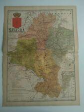 1913 MAPA de Navarra Benito Chias y Carbo (Spain Map España Spagna)