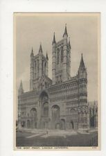 West Front Lincoln Cathedral Vintage Postcard 574a