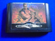 **Sega Mega Drive TWO CRUDE DUDES Genuine Game Cartridge PAL