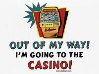 "*Postcard-""Out of My Way!......I'm Going to Casino!""   (V-18)"