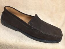 TOD'S Womens US 8 EU 38 Brown Suede Driving Loafer Casual Shoes Slip On