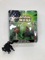 Star Wars Power of the Jedi DARTH MAUL WITH SITH ATTACK DROID & DARTH MAUL loose