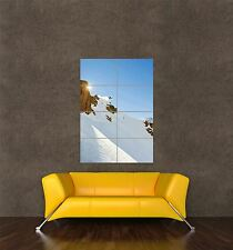 POSTER PRINT PHOTO SPORT ACTION SNOW SNOWBOARD SNOWBOARDER CLIFF JUMP SUN SEB380
