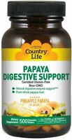 Papaya Digestive Support by Country Life, 500 chewable wafers