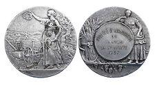 Médaille Société d'Agriculture du Canton de Saint-Aulaye. 1937. Bronze argenté